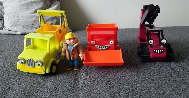 Bob budowniczy pojazdy spychacz koparka i śmieciarka