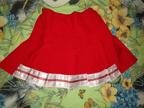 Юбка красная украинский костюм