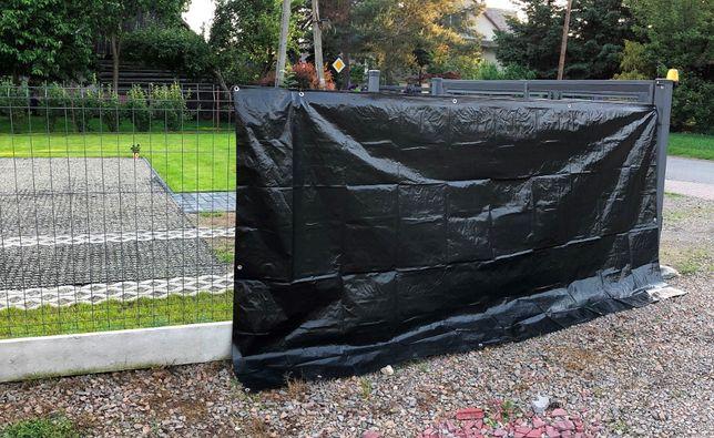 PLANDEKA na ogrodzenie, plandeka ogrodzeniowa 1,76m x 3,41m plandeki