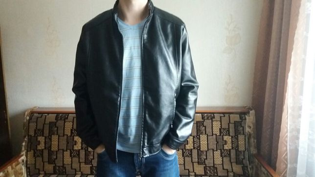 Кожзам мужская дубленка (легкая куртка)
