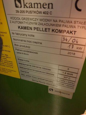 Kocioł na pellet z podajnikiem Ecodesign 5 klasa Kamen Kompakt 17KW