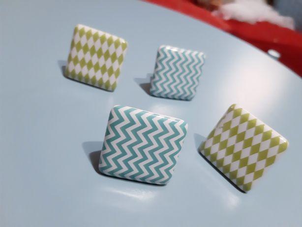 Gałki meblowe ceramiczne we wzory