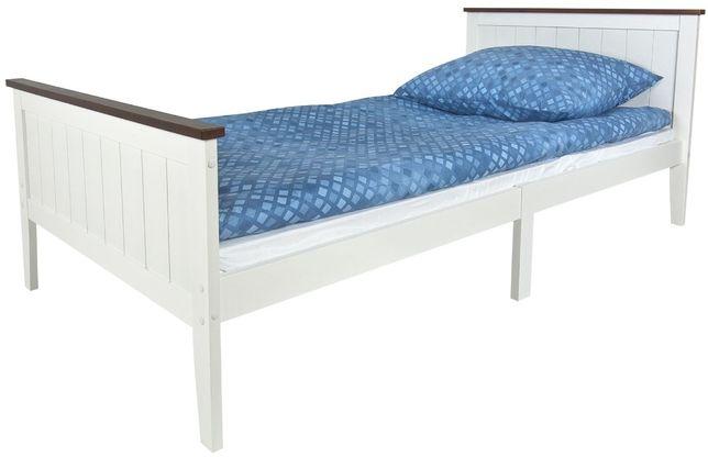 Drewniane łóżko białe PARIS WALNUT 200/90 z materacem 102/246230