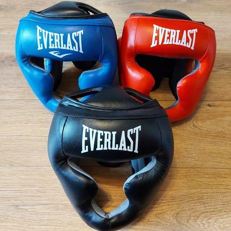 Шлем боксерский с полной защитой Everlast натуральная кожа