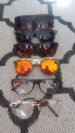 okulary słoneczne złote panterka kocie zerówki WYPRZEDAŻ SZAFY