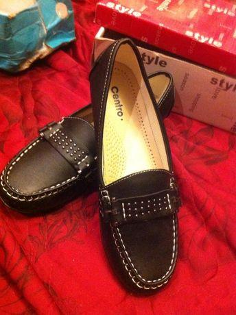 Черные туфли ортопедические