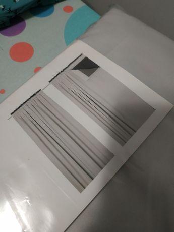 Zasłony zasłonki Ikea Glansnava szare