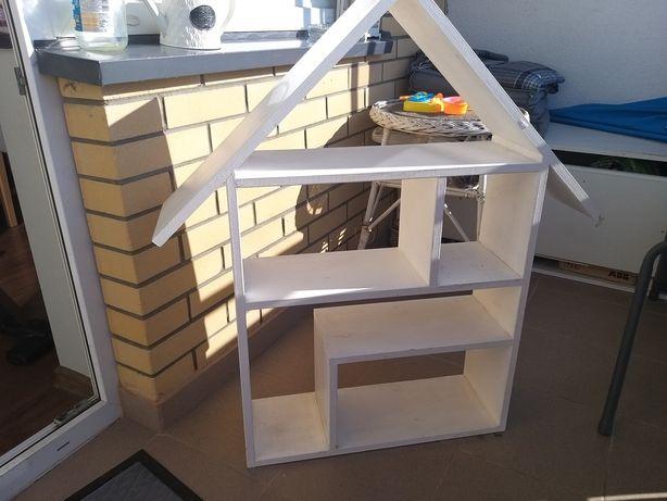 Półka domek drewniana