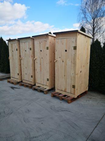 Toaleta drewniana przenośna toaleta budowlana WC wychodek ustęp szalet