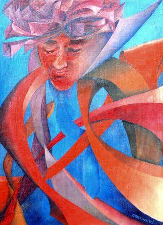 alny obraz olejny na płótnie 40 x 60 w drewnianej ramie