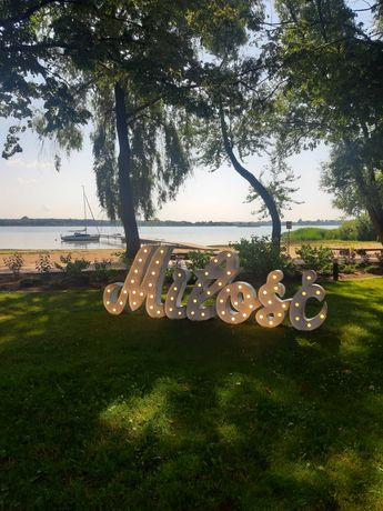 Napis Miłość-atrakcja na wesele. Promocja sierpniowa 350zł