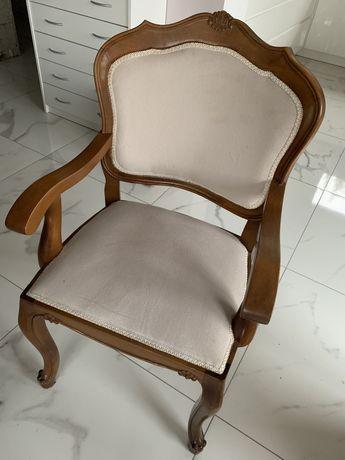 Krzesła drewniane, komplet, stan bdb, tapicerowane