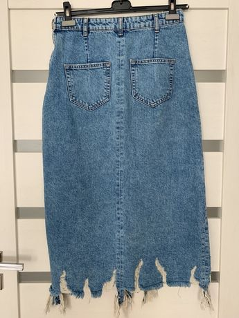 Zara spódnica jeansowa midi M