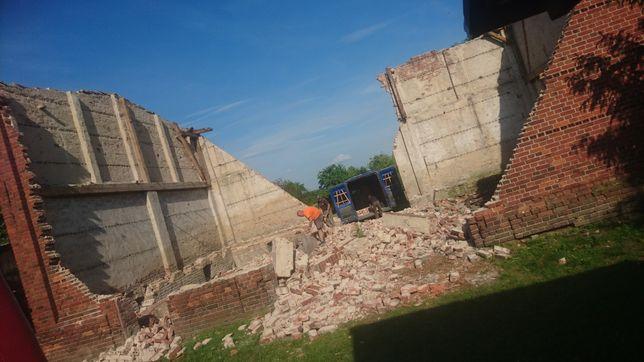 Rozbiórki rozbiórka stodół,budynków gospodarczych za materiał