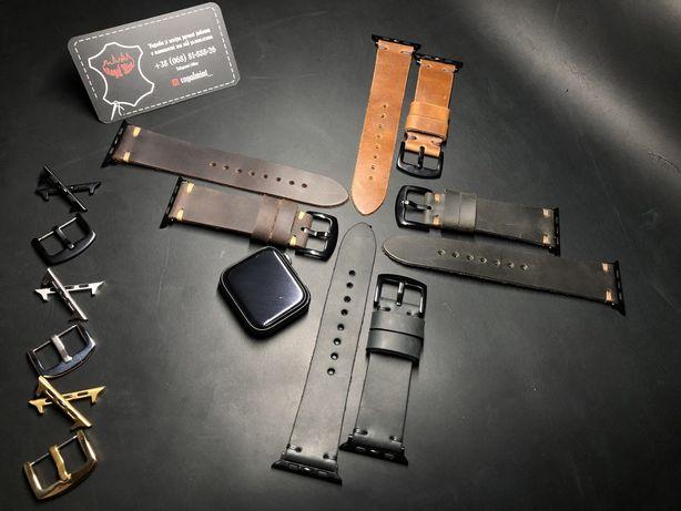 Ремешок для часов Apple watch из кожи ручной работы