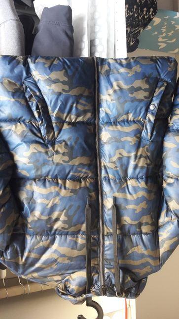 Kurtka zimowa moro khaki ciepla kaptur twintip rozmiar s