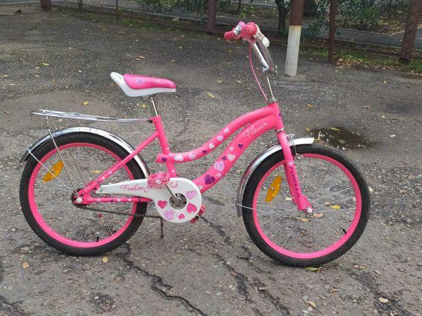 Велосипед FORMULA розовый для девочки. Formula. Размер колёс 20 дюймов