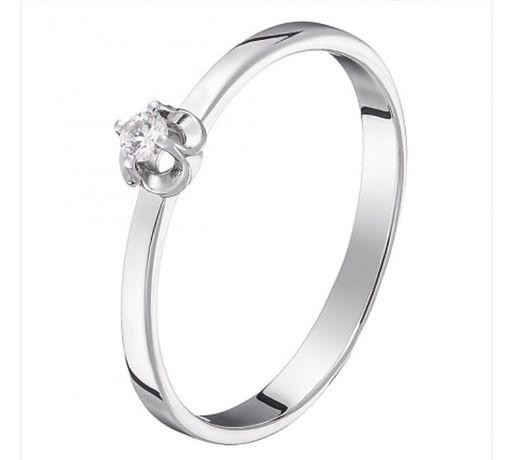 Кольцо с бриллиантом Sova, каблучка размер 17.0