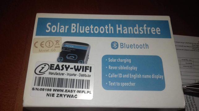 Zestaw głośnomówiący solarny bluetooth g3