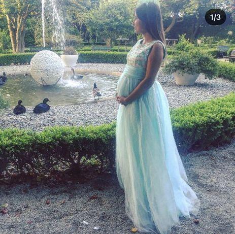 Vestido cerimonia gravida S/M