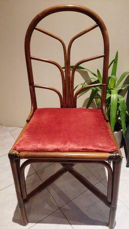 Krzesło Vintage Thonet bambus rattan Boho style