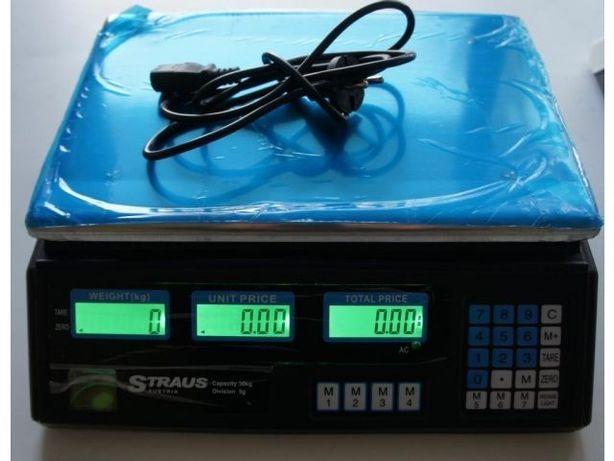Waga 40kg akumulator + 230V kalkulacyjna NOWA dom
