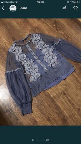 Продам блузку майка+прозрачная блузка идеального состояния