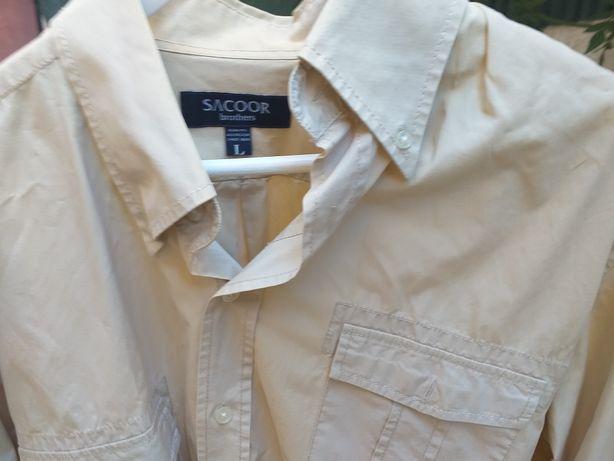 Camisa desportiva L creme SACOOR