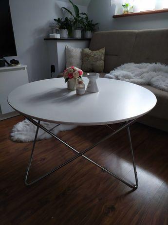 Stolik kawowy okrągły ława relaxdays 50x90x90cm