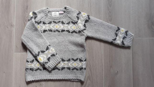 Sweter / Sweterek dziecięcy Zara rozm. 98 szary