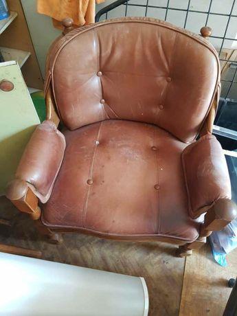 Stary niemiecki fotel