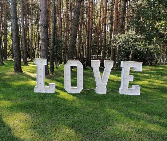 Napis podświetlany LED 120cm - LOVE i 18 ślub, wesele, osiemnastka