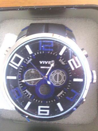 Relógio VIVE desportivo Com alarme, luz noturna LCD