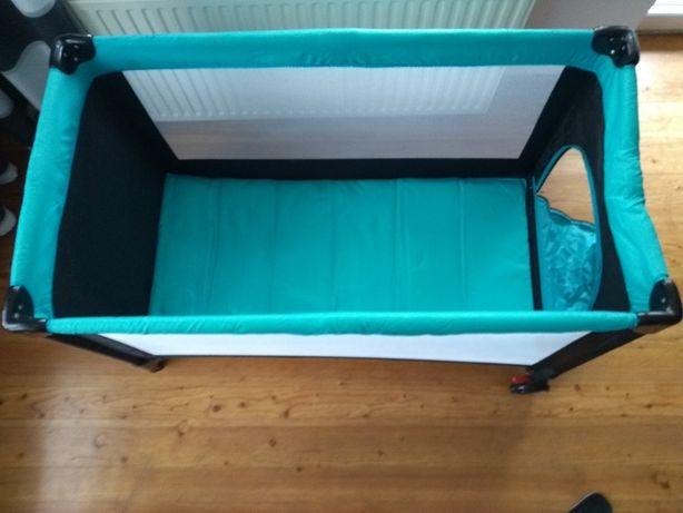 Łóżeczko turystyczne 120x60 niebieskie