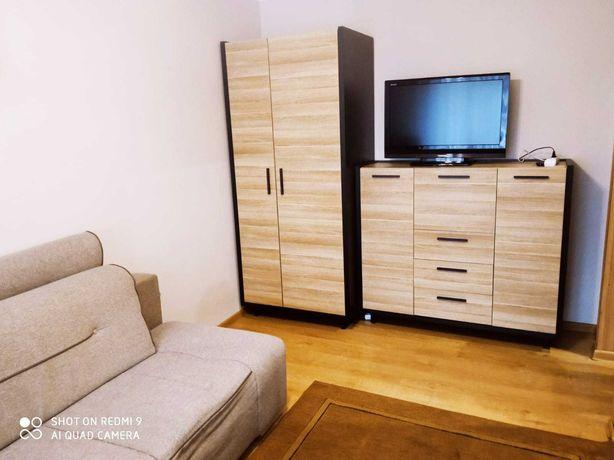 dwupokojowe umeblowane i wyposażone mieszkanie, ul. Grunwaldzka, garaż