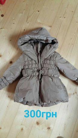 Зимова курточка для дівчинки 18-24 місяці