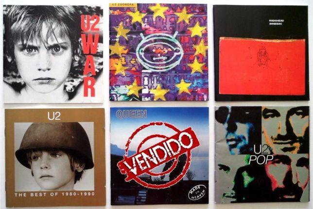 CD'S U2, Queen, Radiohead, Simple Minds (individualmente ou o lote)