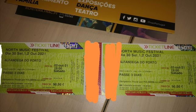2 Passes 3 dias North Music Festival