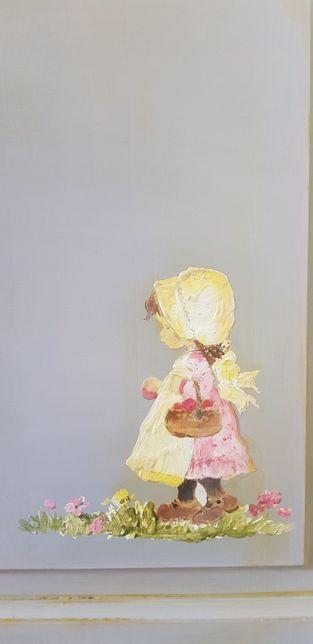 Komplet mebli malowanych dla dziewczynki