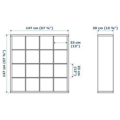 Estante IKEA Kallax usada 16 cubos