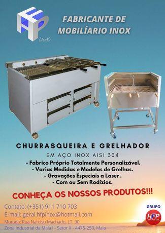 Churrasqueiras e Grelhadores em Aço Inox (TODOS OS TIPOS DE MEDIDAS)