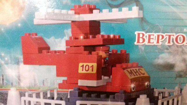 Вертолет пожарный конструктор лего крупные детали LEGO