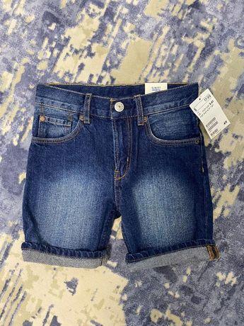 Шорты H&M джинсовые 3-4 года (большемерят)
