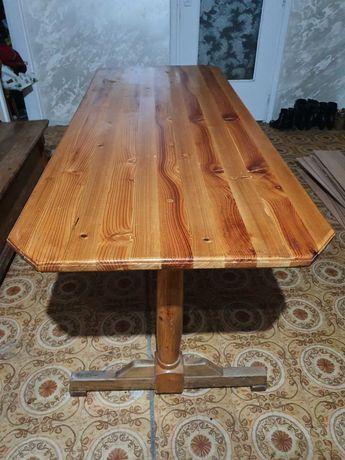 Duży stół drewniany 172×67cm styl góralski orawski