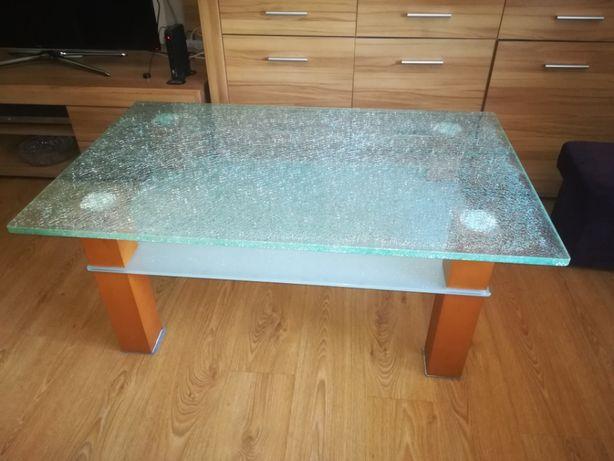 Stolik szklany kawowy 120x75 tłuczone szkło