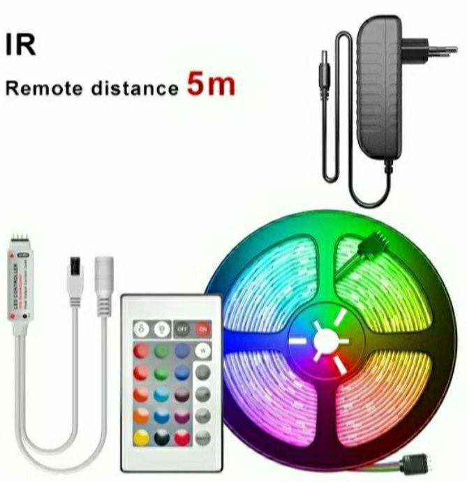 Fita Led RGB 5M - Kit Completo