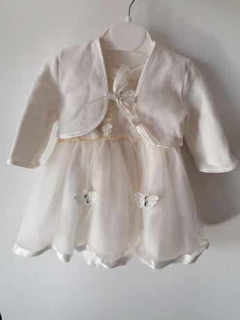 Ubranko dla dziewczynki, sukienka, bolerko buciki