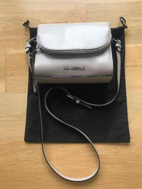 Skórzana torebka Karl Lagerfald