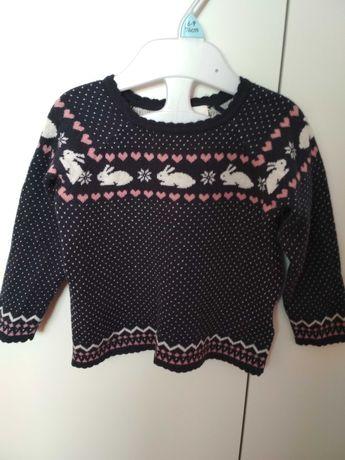 Sweterek dziewczęcy 74