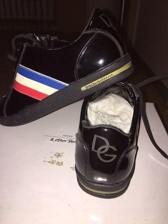 Лаковые кожаные туфли кроссовки D&G 36р.